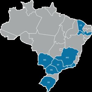 mapa de atuação da Eficiência Hospitalista