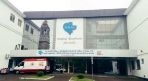 fachada Hospital São Carlos onde Eficiência Hospitalista e Promed implementaram Plano de Crise Covid