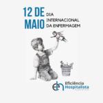 card dia internacional da enfermagem com ilustração de bansky